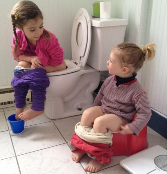 Potty Introduction From 4 year old to 2 year old