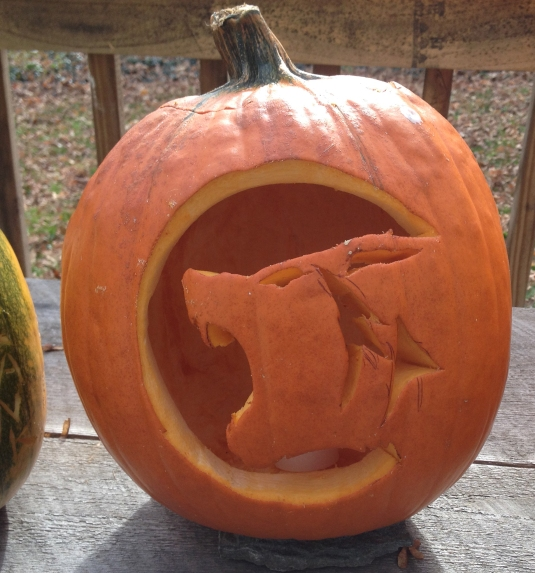 Wolf carved by Frank Scotti