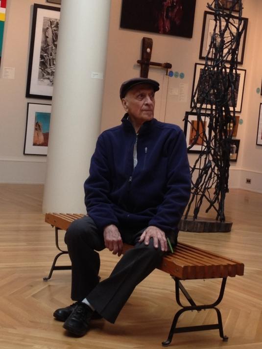 Bob Boyajian in the Newport Art Museum