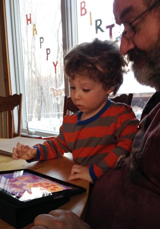 Oliver fits shapes; studies contours!