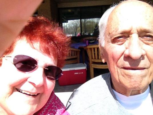 Double Selfie in the Sun April 26, 2014