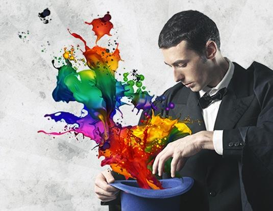 Spectrum magic: rainbow waves