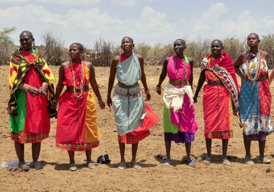 the colorful tribes of Kenya, Africa