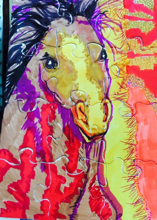 Puzzle of Horse by Jeanne 4/2015