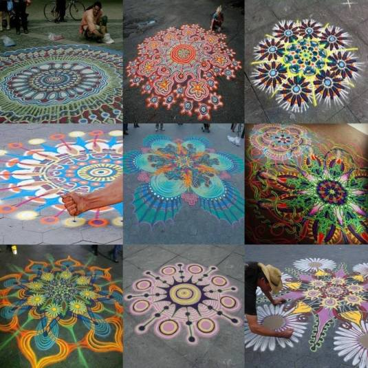 mandalas on the street