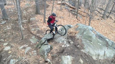 Peter rides the rocks