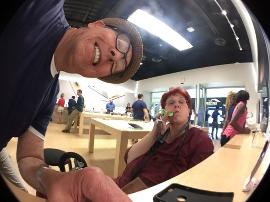Photo by Jeanne at the Apple Store: fish eye lens on iPhone6+