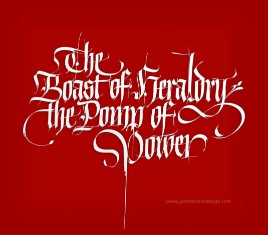 The Boast of Heraldry by John Stevens