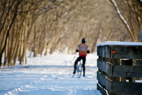 making lemonade aka biking in the snow