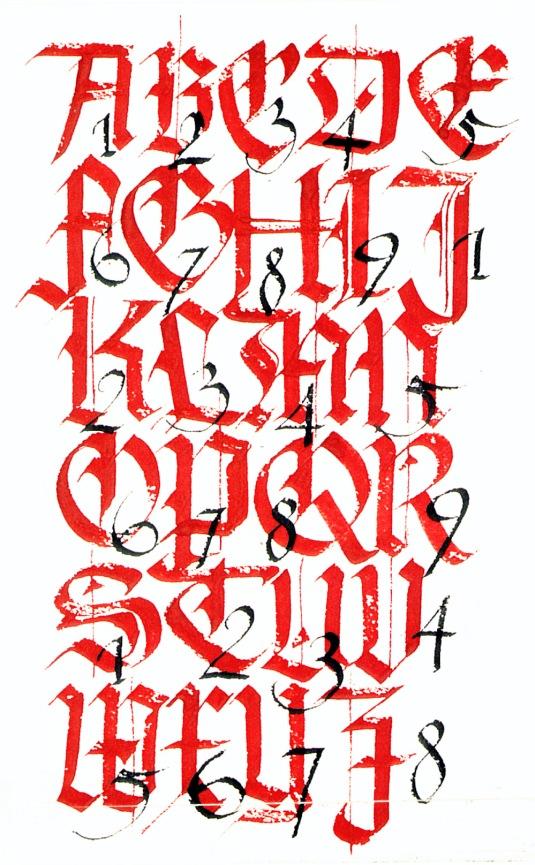 Alphabet Majescules
